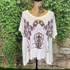 NWT WE THE FREE Circle in the Sand Tee, L*
